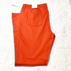 NWT Liz Claiborne women's orange denim size 14